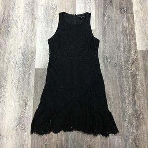 Banana Republic black lace dress, size 6P.